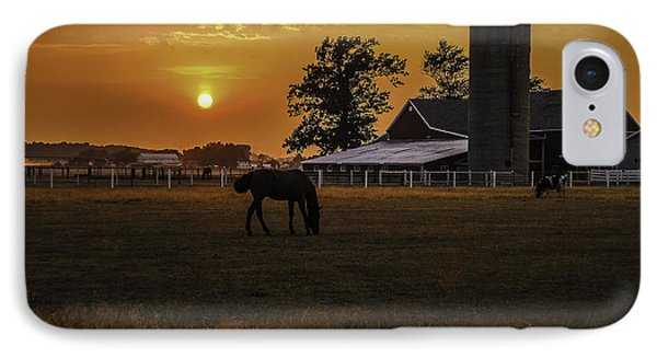 The Beauty Of A Rural Sunset IPhone Case