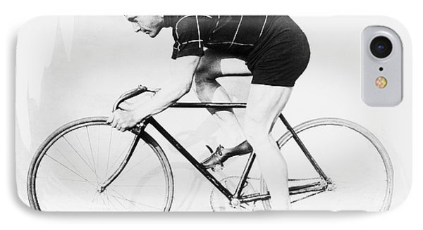 Bicycle iPhone 8 Case - The Bicyclist - 1914 by Daniel Hagerman