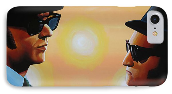 Rhythm And Blues iPhone 8 Case - The Blues Brothers by Paul Meijering