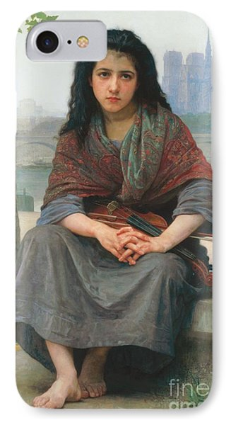 Violin iPhone 8 Case - The Bohemian by William Adolphe Bouguereau