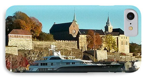 The Castle By The Waterfront IPhone Case
