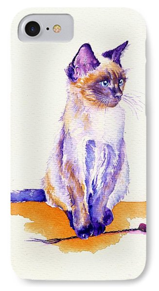 Cat iPhone 8 Case - The Catmint Mouse Hunter by Debra Hall