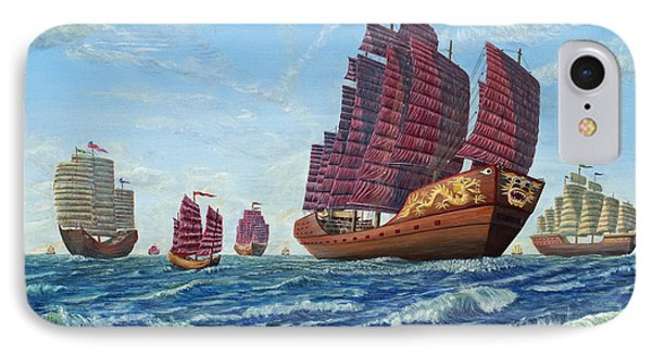 The Chinese Treasure Fleet Sets Sail IPhone Case