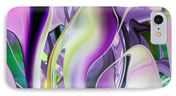 The Color Of Iris - Digital Abstract Art IPhone Case