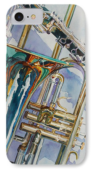 Trombone iPhone 8 Case - The Color Of Music by Jenny Armitage