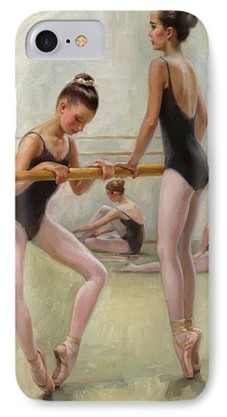 The Dancers Practicing At Barre IPhone Case