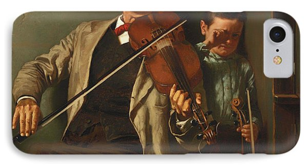 Violin iPhone 8 Case - The Duet by Mountain Dreams
