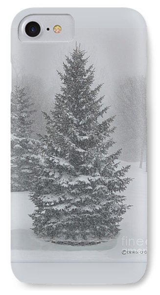 The First Snow Of Christmas IPhone Case