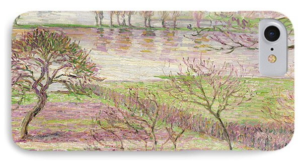 Impressionism iPhone 8 Case - The Flood At Eragny by Camille Pissarro