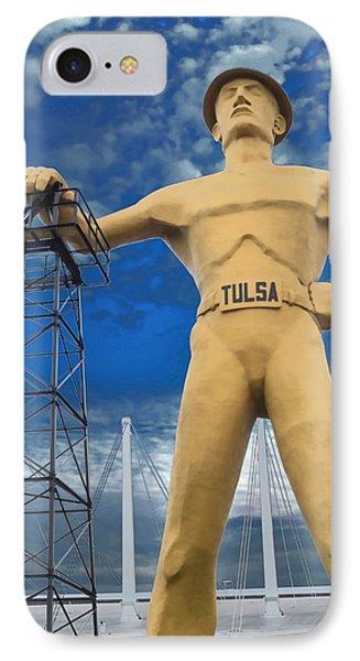 The Golden Driller - Tulsa Oklahoma IPhone Case