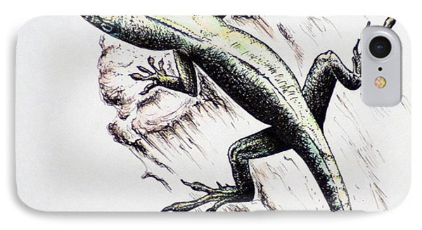 The Green Lizard IPhone Case