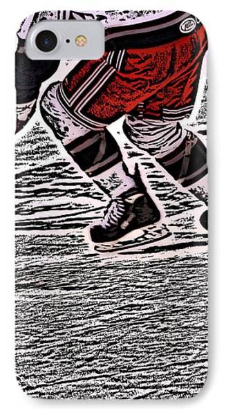 The Hockey Player IPhone Case