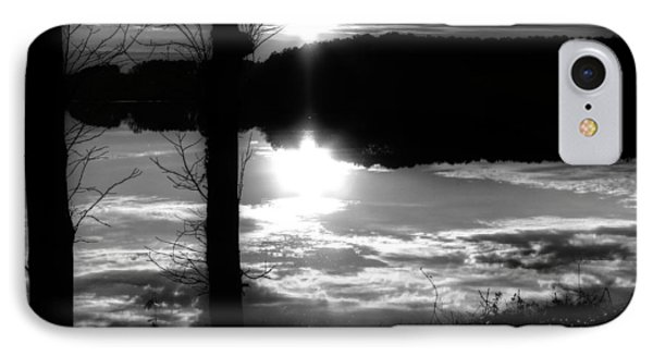 The Lake - Black And White IPhone Case