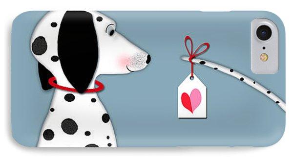 Dog iPhone 8 Case - The Letter D For Dalmatian by Valerie Drake Lesiak