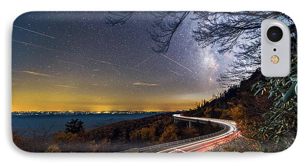 The Linn Cove Viaduct Milky Way Light Trails IPhone Case