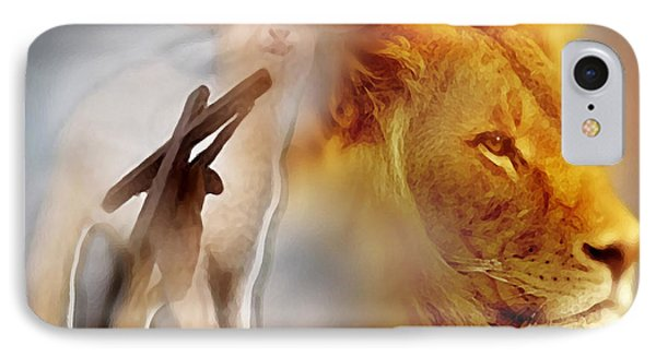 The Lion And The Lamb IPhone Case