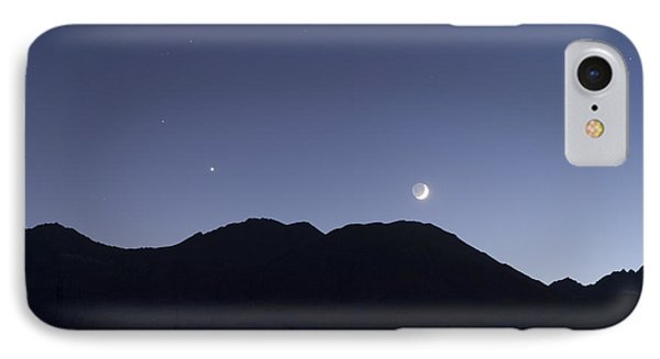The Moon And Venus Over The Sierras IPhone Case
