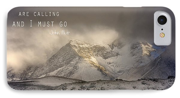 The Mountains Are Calling And I Must Go  John Muir Vintage IPhone Case