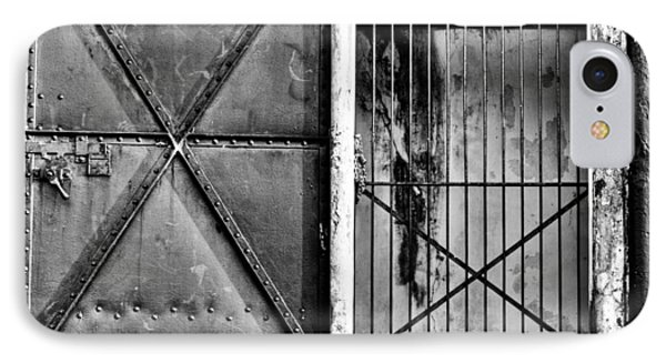 The Old Fort Gate-black And White IPhone Case