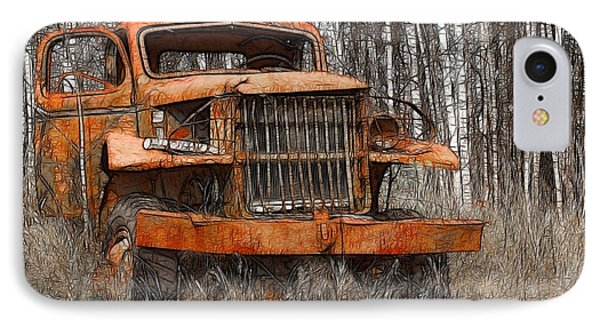 The Old Military Truck IPhone Case