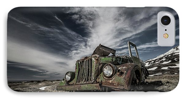Truck iPhone 8 Case - The Old Russian Jeep by Bragi Ingibergsson -