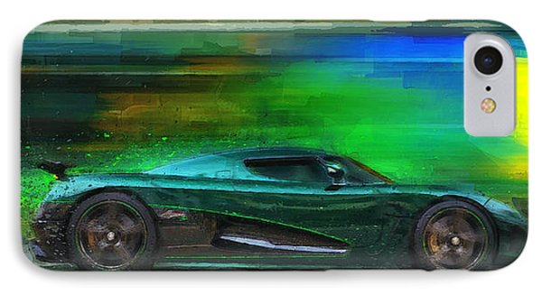 Koenigsegg Agera IPhone 8 Case   The Real Green Monster By Alan Greene