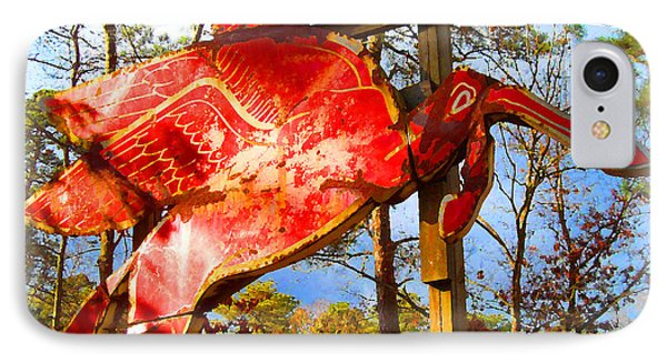 The Red Flying Horse IPhone Case