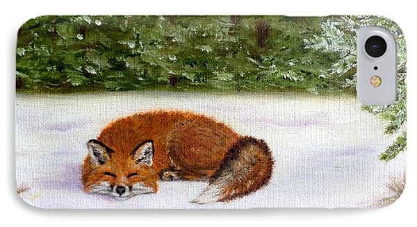 The Red Fox Of Winter IPhone Case