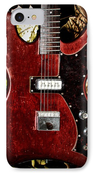 The Red Guitar Blues IPhone Case