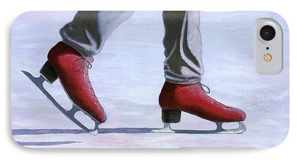 The Red Ice Skates IPhone Case