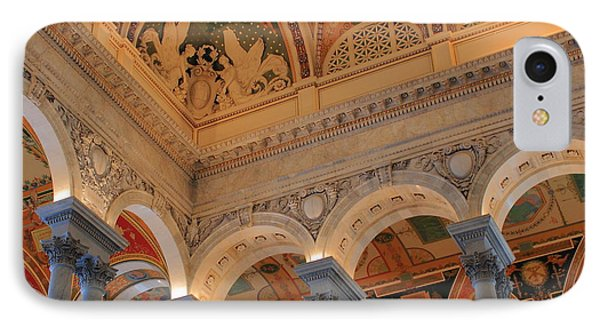 The Roof Above Jefferson's Books  IPhone Case