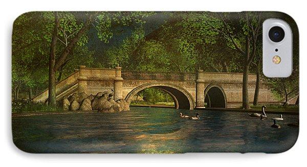 The Rose Pond Bridge 06301302 - By Kylie Sabra IPhone Case