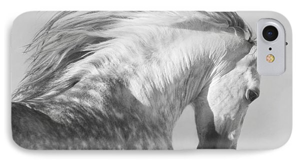 Horse iPhone 8 Case - The Spanish Stallion Tosses His Head by Carol Walker