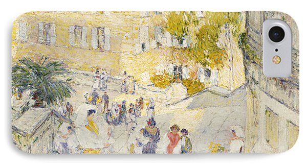 Wonderful Spanish Steps IPhone 8 Case   The Spanish Steps Of Rome By Childe Hassam