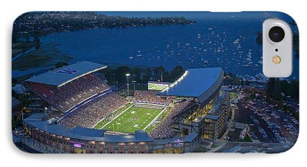 Husky Stadium And The Lake IPhone Case