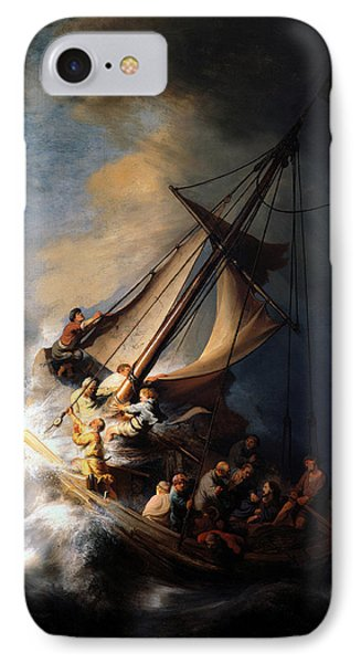 IPhone Case featuring the digital art The Storm On The Sea Of Galilee by Rembrandt