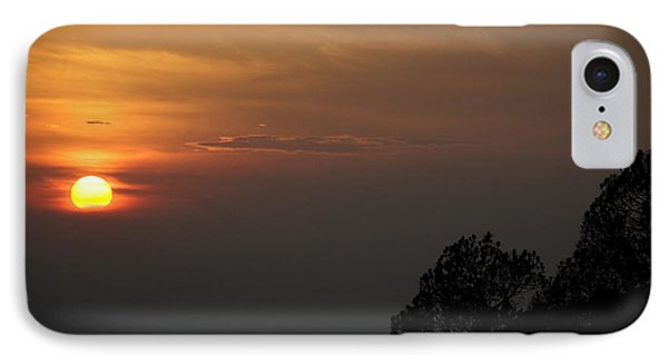 The Sun Behind The Trees IPhone Case