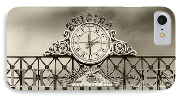 The Sun Orioles Clock - Sepia IPhone Case