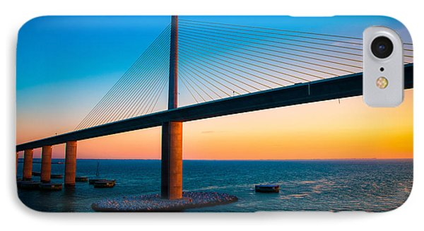 The Sunshine Under The Sunshine Skyway Bridge IPhone Case