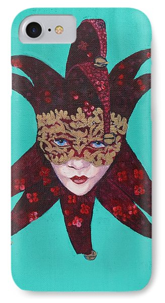 The Sweetheart Of Arlecchino Colombina Venitian Mask IPhone Case