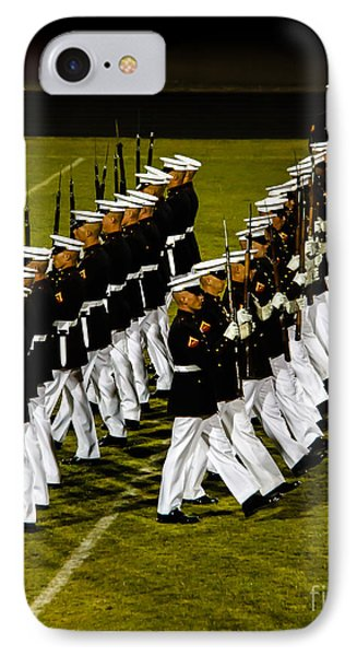 The United States Marine Corps Silent Drill Platoon IPhone Case