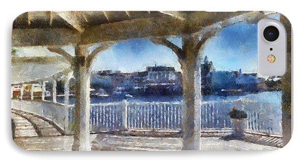 The View From The Boardwalk Gazebo Wdw 02 Photo Art IPhone Case
