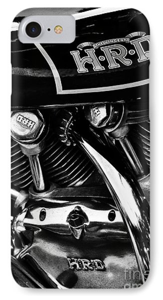 The Vincent Hrd Motorcycle Monochrome IPhone Case