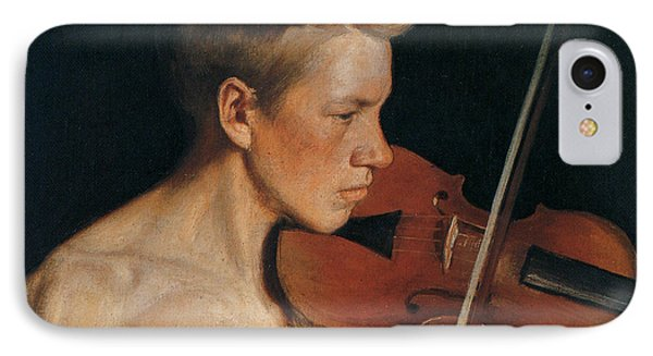 Violin iPhone 8 Case - The Violinist by Celestial Images