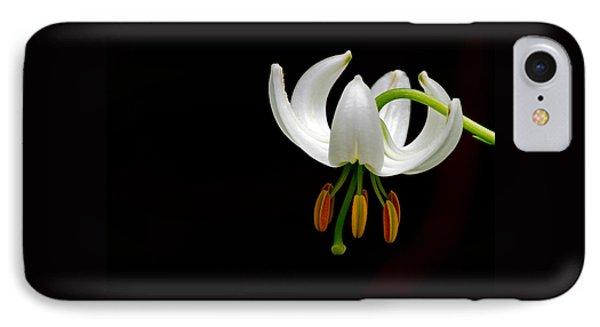 The White Form Of Lilium Martagon Named Album IPhone Case