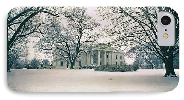 The White House In Winter IPhone Case
