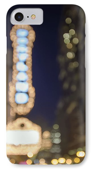 Theater Marquee Lights On Broadway Bokeh Background IPhone Case