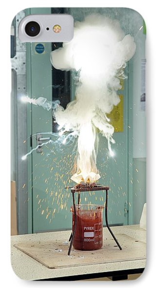 Thermite Reaction Demonstration IPhone Case