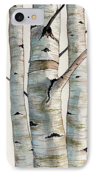 Three Birch Trees IPhone Case