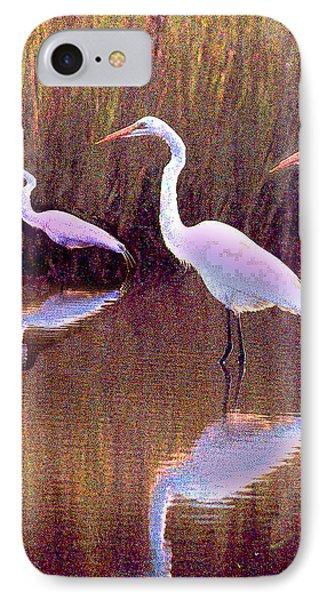 Three Egrets IPhone Case